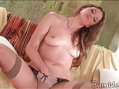 Monika sweetheart masturbates in sexy stockings tube
