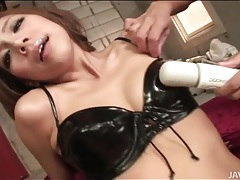Kinky japanese slut loves to lick asshole tubes