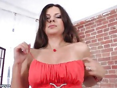 Victoria popova strips from sexy red dress tubes