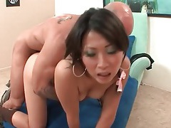 Small titty asian with big cock inside her tubes