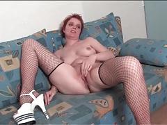 Nice tits on mature chick masturbating solo tubes