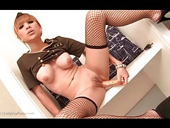 Double dildo penetration starring sexy asian tubes