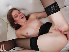 Doggystyle butt fuck of slut in stockings tubes