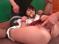 Finger banged japanese teen girl sucks dick tubes