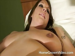 Curvy girl gets naked and sucks dick tubes