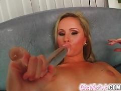Whipped cream coats girl masturbating lustily tubes