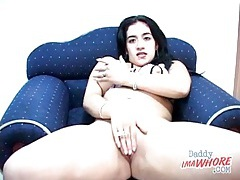 Babe with big boobs plays with her pussy tubes