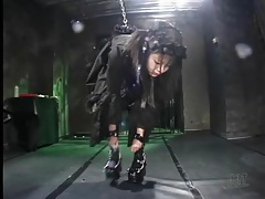 Naughty black dress on chained up japanese girl tubes