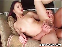 Asian slut katsuni takes a big dick in her anus tubes