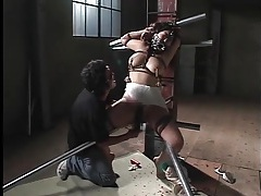 Rough bdsm porn with japanese girl ends in cumshot tubes