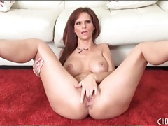Syren de mer finger fucking in high heels tubes