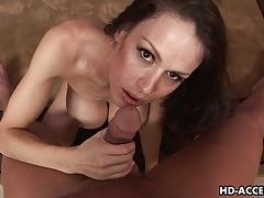 Big titted milf dianna doll munches on a stiff dick tubes