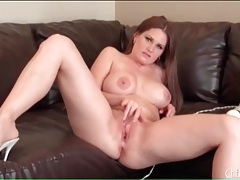 Curvy allison moore sucks toy and models body tubes