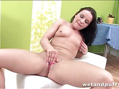 Spit lubed pussy opened up by speculum tubes
