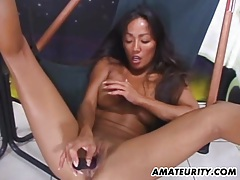 Hot amateur asian gf toys,sucks and fucks tubes