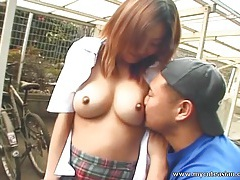 Asian amateur gives outdoor blowjob tubes