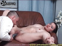 Tongue and dildo turn on pussy of natasha tubes