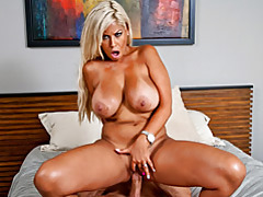 Bronzed blond milf bridgette rides cock tubes