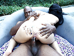 Raven haired goddess enjoying interracial sex tubes