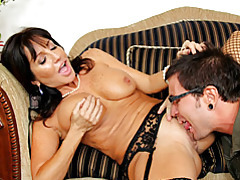 Well dressed milf gives him head tubes