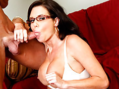 Blown by milf in glasses tubes