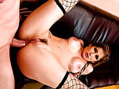 Rough anal with fishnets girl tubes
