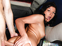 Anal sex in car tubes
