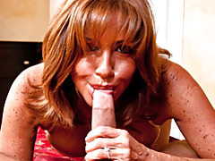 Bj and footjob in pov from milf tubes