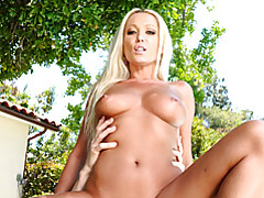 Banging poolside with hot blonde tubes