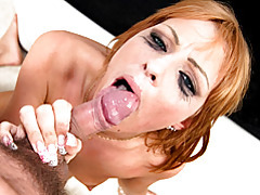 Redhead swallows after sex tubes
