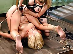 Pussy fisted on bondage girl tubes