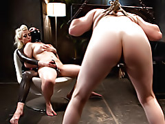 Mistress makes slave lick toes tubes