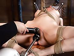 Hot tied girl dildo fucked tubes