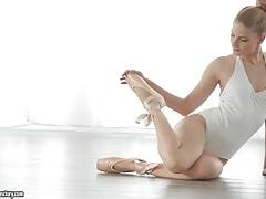 Cayenne klein is a sexy blonde ballerina tubes