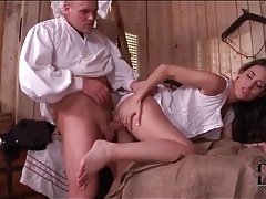 Cutie in a white dress fucked by a stud tubes