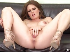 Busty naked babe with big ass masturbates tubes