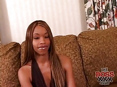 Skinny black girl with tiny tits masturbates tubes