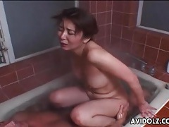 Hardcore japanese sex in the warm bathtub tubes