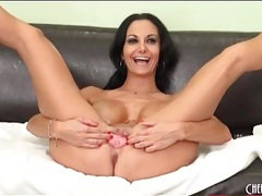 Leggy ava addams models oiled up titties tubes