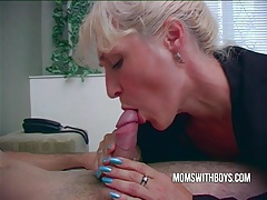Hot horny mama wakes stepson with a blowjob tubes