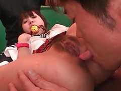 Asshole of a hot japanese teen licked lustily tubes