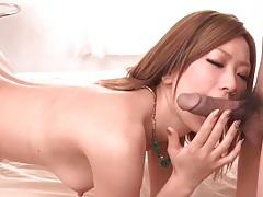 Juicy japanese cunt fingered lustily tubes