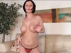 Solo loni evans strips lingerie and masturbates tubes