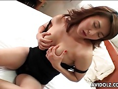 Japanese milf with big tits masturbates tubes