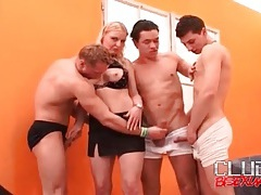 Photo shoot turns into bisexual orgy tubes