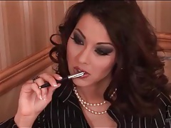 Sexy cindy hope smokes in a skirt tubes