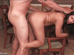 Brunette moans for doggystyle hardcore sex tubes