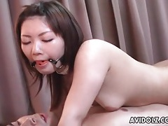 Gagged japanese girl fucked in the ass tubes