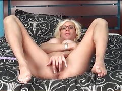 Big round implants look sexy on puma swede tubes
