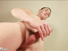 Twink tummy gets wet from his cum tubes